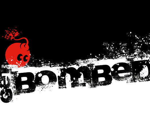 Bomb Books web and print design